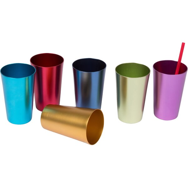 Retro 14 Oz. Juice Glass (Set of 6) by Trademark Innovations