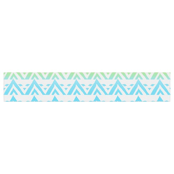Frederic Levy-Hadida Antilops Pattern Chevron Table Runner by East Urban Home