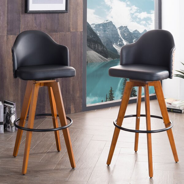Lennon 29.72 Swivel Bar Stool (Set of 2) by Langley Street