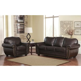 Hotchkiss 2 Piece Leather Living Room Set by World Menagerie