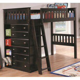 Compare Basile Twin Loft Bed with Drawer ByHarriet Bee