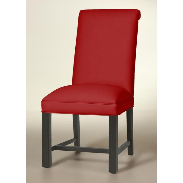 Rolled Back Chippendale Upholstered Dining Chair by Sloane Whitney Sloane Whitney
