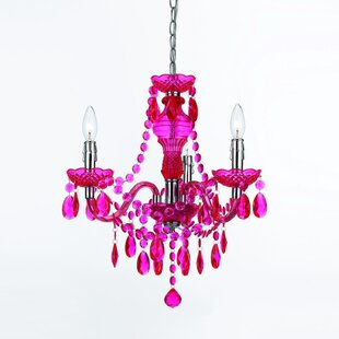 Hot pink chandelier wayfair save to idea board mozeypictures Gallery