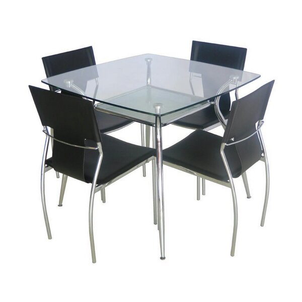Sasso Tempered Glass Dining Table by Orren Ellis