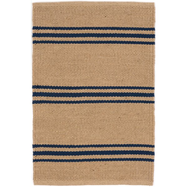 Lexington Hand Woven Blue/Beige Indoor/Outdoor Area Rug by Dash and Albert Rugs