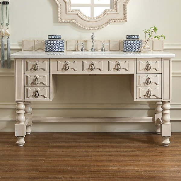Elizabella 60 Single Vintage Vanilla Bathroom Vanity Set by Astoria Grand