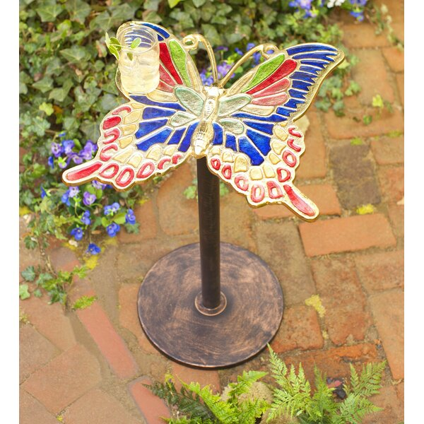 Enameled Butterfly Table by Wind & Weather