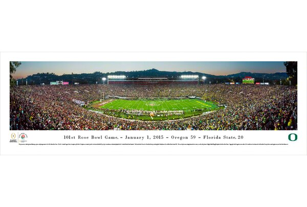 NCAA Rose Bowl 2015 by James Blakeway Photographic Print by Blakeway Worldwide Panoramas, Inc