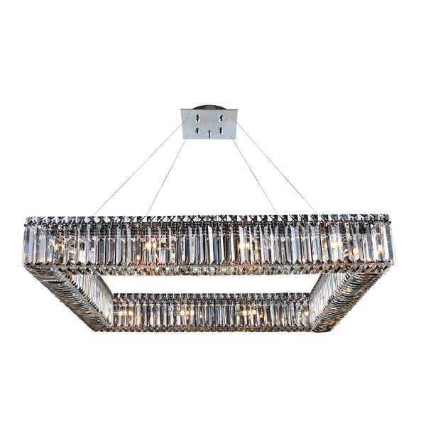 Riesel 16-Light Unique / Statement Geometric Chandelier By Everly Quinn
