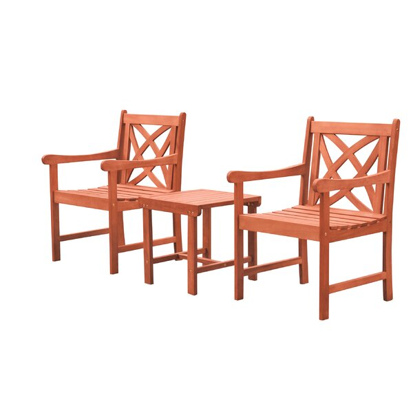 Amabel 3 Piece Bistro Set by Beachcrest Home