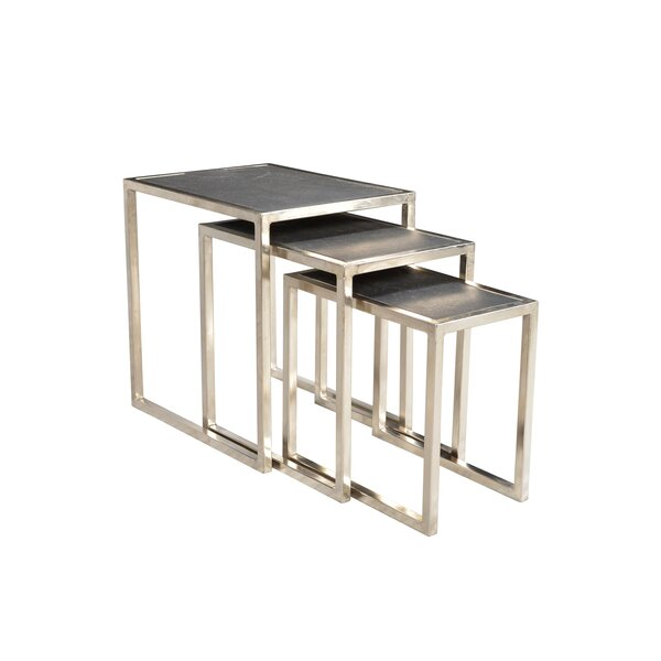 Callaghan Stone Top 3 Piece Nesting Tables by Brayden Studio Brayden Studio
