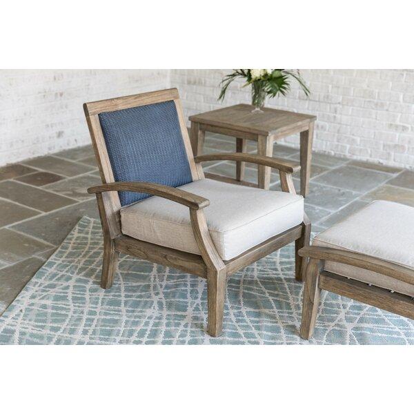 Wildwood Teak Patio Chair with Cushion by Lloyd Flanders