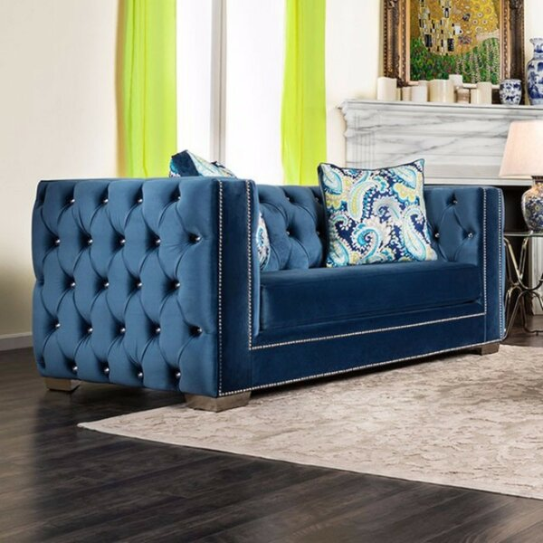 Galvez Tuxedo Inspired Loveseat By Everly Quinn Bargain