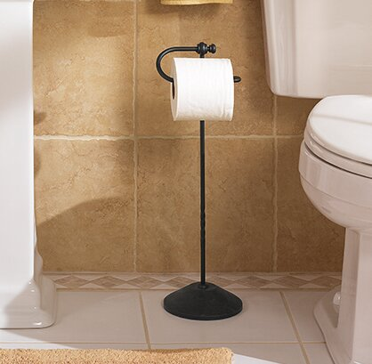 Sienna Free Standing Toilet Paper Holder by Moen