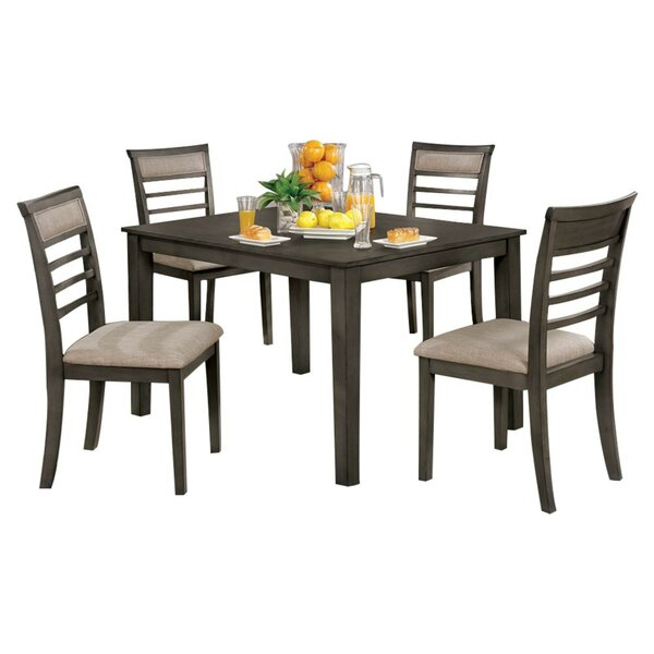 Hanska Wooden 5 Piece Counter Height Dining Table Set (Set of 5) by Red Barrel Studio