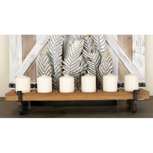 Wood and Metal Candelabra by Cole & Grey