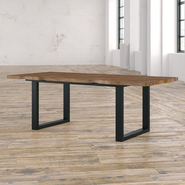 Carter Rustique Solid Wood Dining Table by 17 Stories