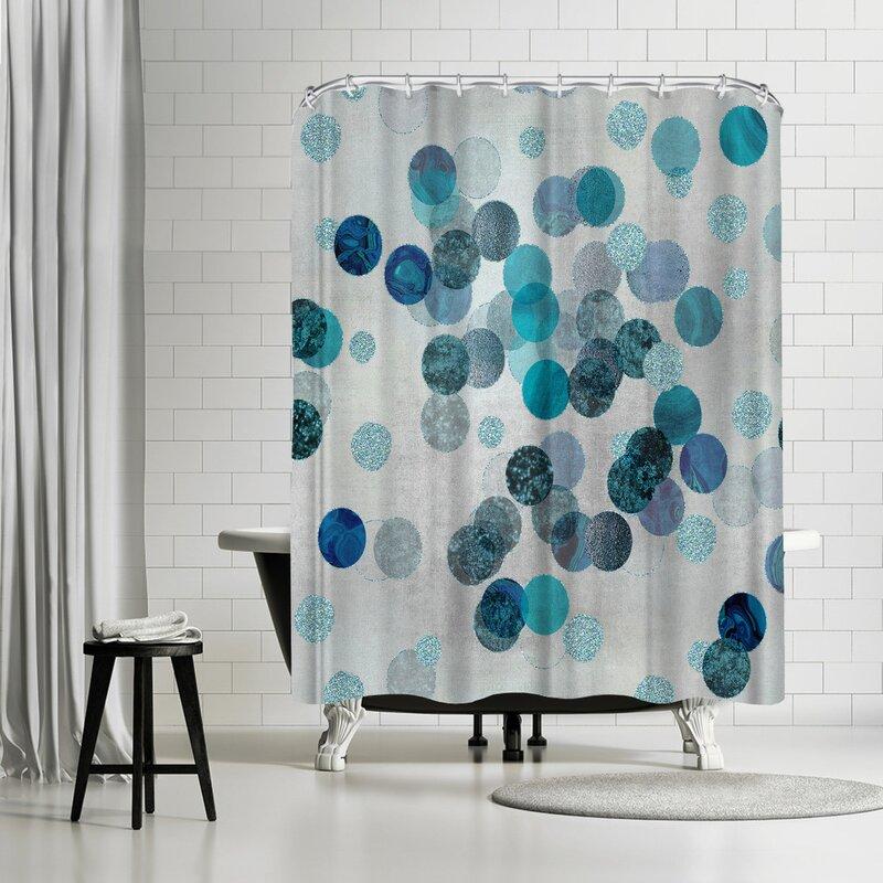 East Urban Home Lebens Art Shimmering Dots Shower Curtain ...