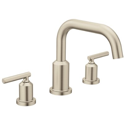 Tub Faucet Deck Mount Double Handle Brushed Nickel 1152 Product Photo