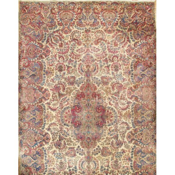 One-of-a-Kind Amityville Hand-Knotted Ivory 11'2 x 18'6 Area Rug