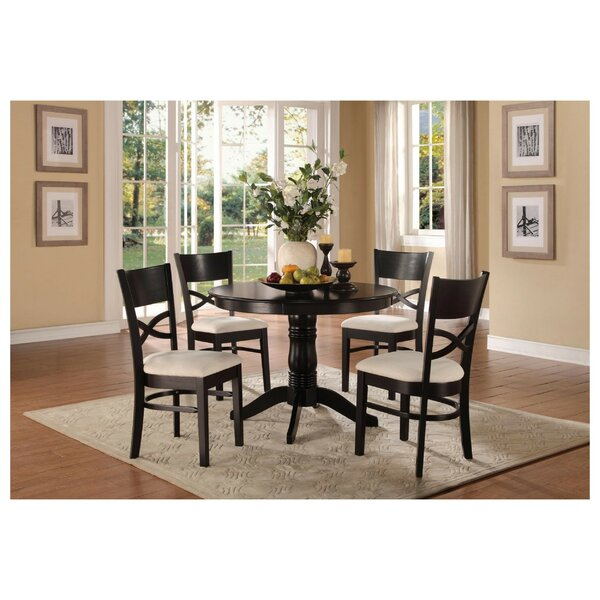 Solano Transitional Dinette 5 Piece Solid Wood Dining Set by Red Barrel Studio