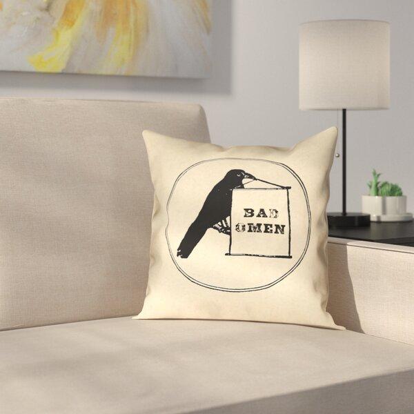 Tillett Bad Omen Raven Indoor/Outdoor Throw Pillow