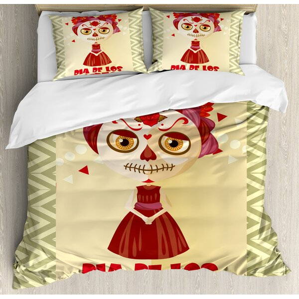 Day of the Dead Duvet Set by Ambesonne