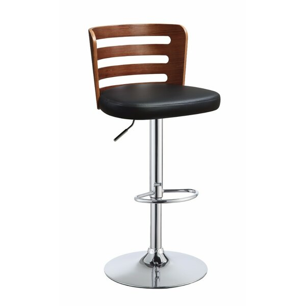 Bentley Adjustable Height Swivel Bar Stool by George Oliver