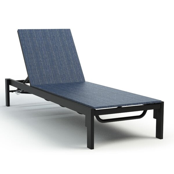 Friedman Adjustable Armless Reclining Chaise Lounge by Breakwater Bay