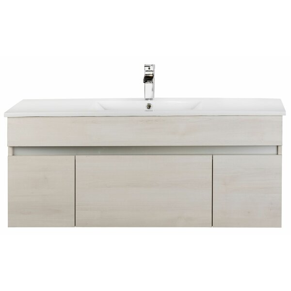 Ivory Floating 48 Single Bathroom Vanity by Cutler Kitchen & Bath