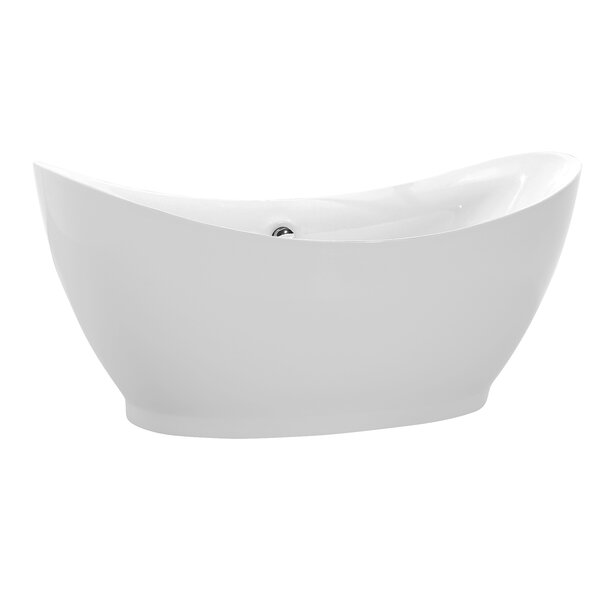 Reginald Series 68'' x 31'' Freestanding Soaking Bathtub by ANZZI