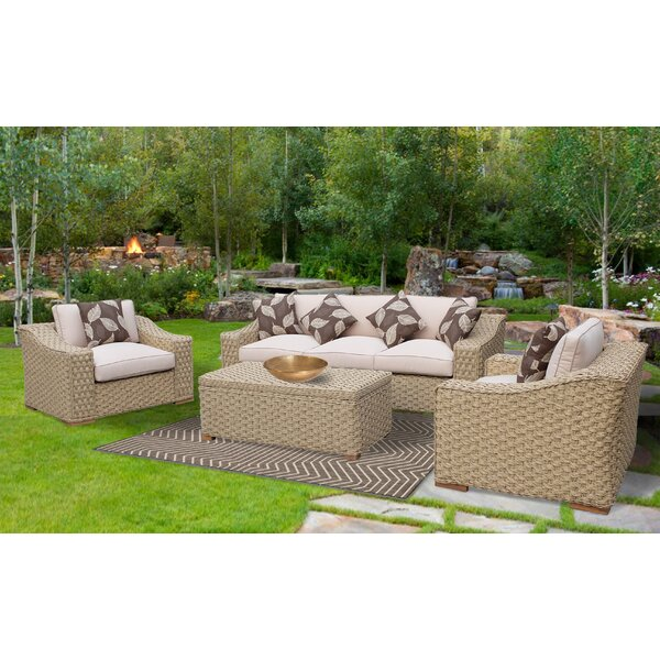 Evie Elegant Rope 4 Piece Sofa Set with Cushions by Bayou Breeze