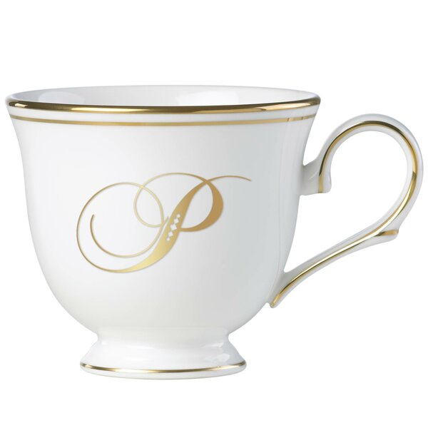 Federal Gold™ Monogram Script Teacup by Lenox
