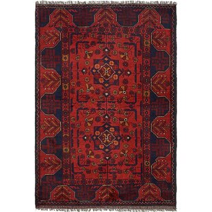 One-of-a-Kind Auxvasse Hand-Knotted 3'5 x 4'10 Wool Red Area Rug