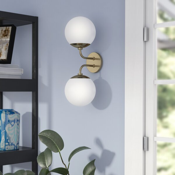 Samira 2-Light Armed Sconce by Langley Street