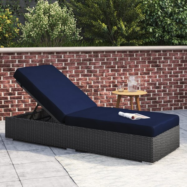 Tripp Chaise Lounge with Cushion by Brayden Studio Brayden Studio