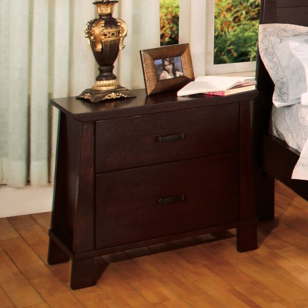 Peyton Two Drawer Nightstand by Hokku Designs