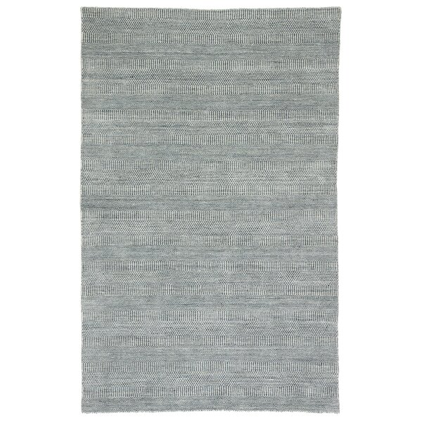 New Haven Handmade Dhurrie Wool Gray Area Rug by Bungalow Rose