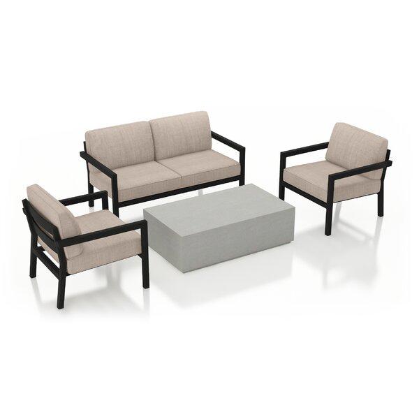 Iliana 4 Piece Sofa with Sunbrella Cushions by 17 Stories