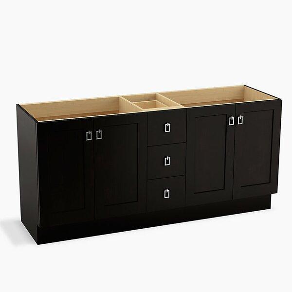 Poplin™ 72 Vanity with Toe Kick, 4 Doors and 3 Drawers by Kohler