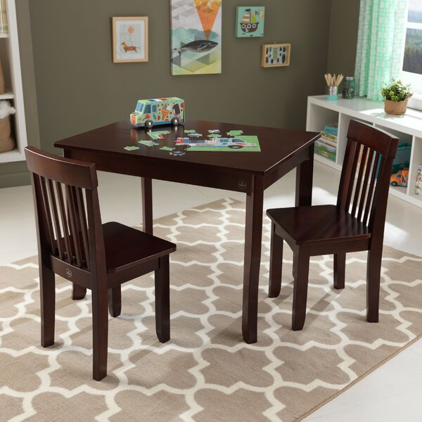 Kidkraft Avalon Kids 3 Piece Rectangular Table And Chair