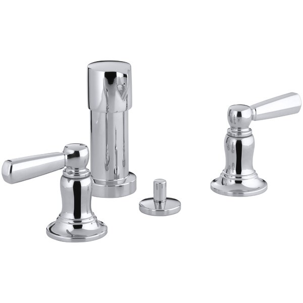 Bancroft Vertical Spray Bidet Faucet with Lever Handles by Kohler
