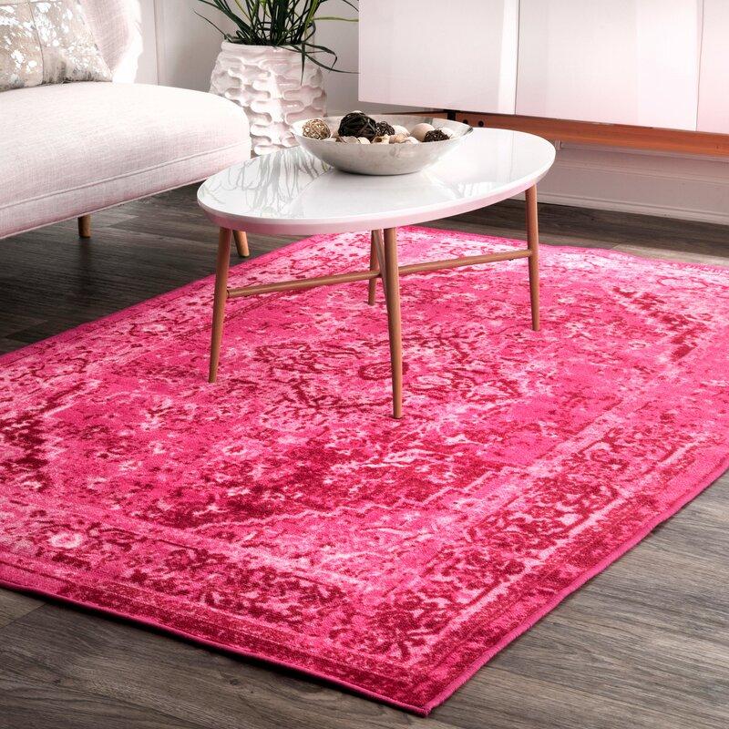 Mistana Decker Pink Area Rug & Reviews   Wayfair