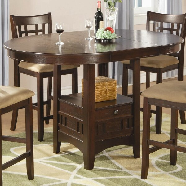 Jeffords Counter Height Extendable Solid Wood Dining Table by Winston Porter