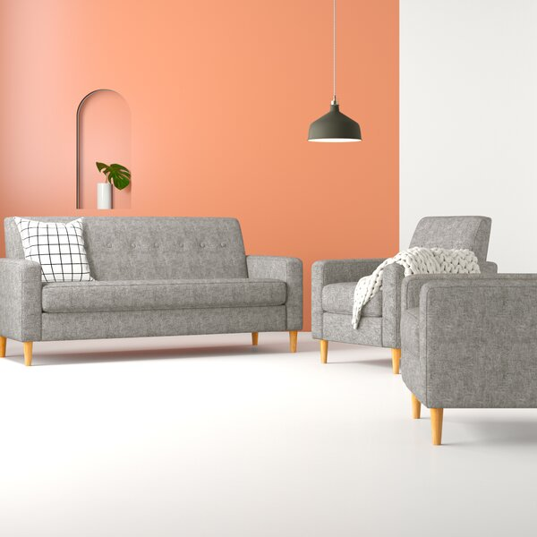Arden 3 Piece Living Room Set by Hashtag Home
