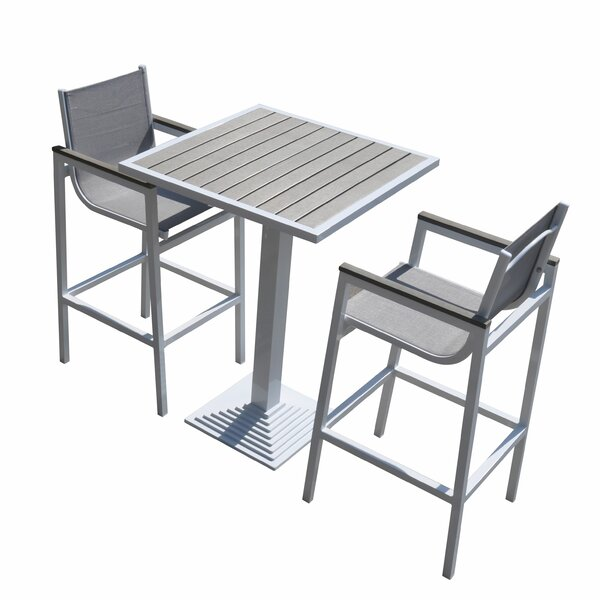 Hornback Outdoor 3 Piece Pub Table Set by Latitude Run