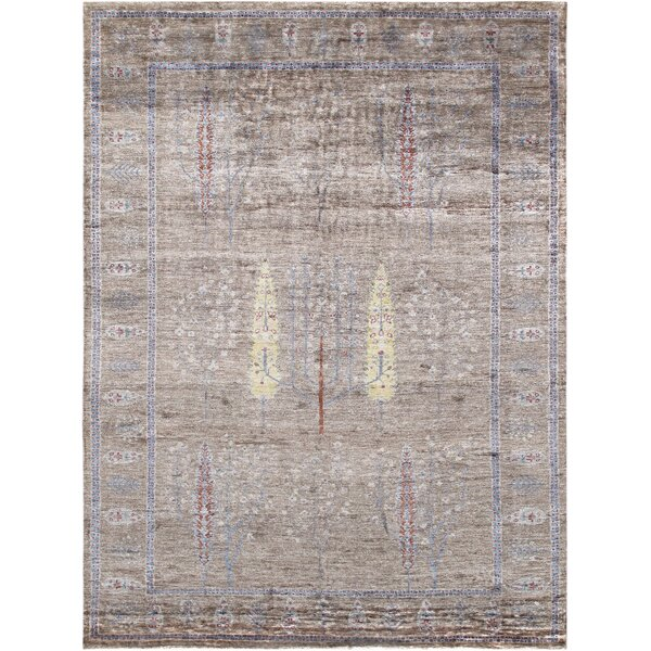 Gabbeh Hand-Knotted Wool Light Brown Area Rug by Pasargad