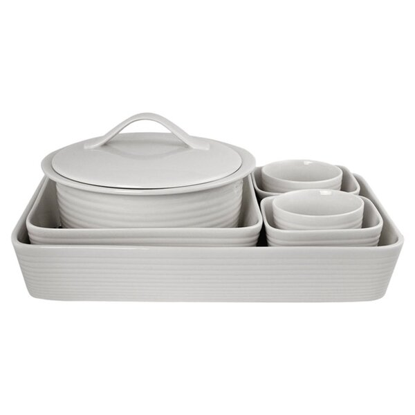 White 7 Piece Bakeware Set by Gordon Ramsay by Royal Doulton