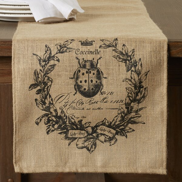 Karle Lady Bug Burlap Table Runner by One Allium Way