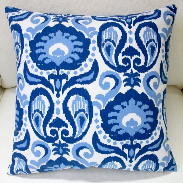 Grand Ikat Floral Modern Indoor Pillow Cover by Artisan Pillows